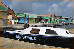 Boat docked at Tourism Village
